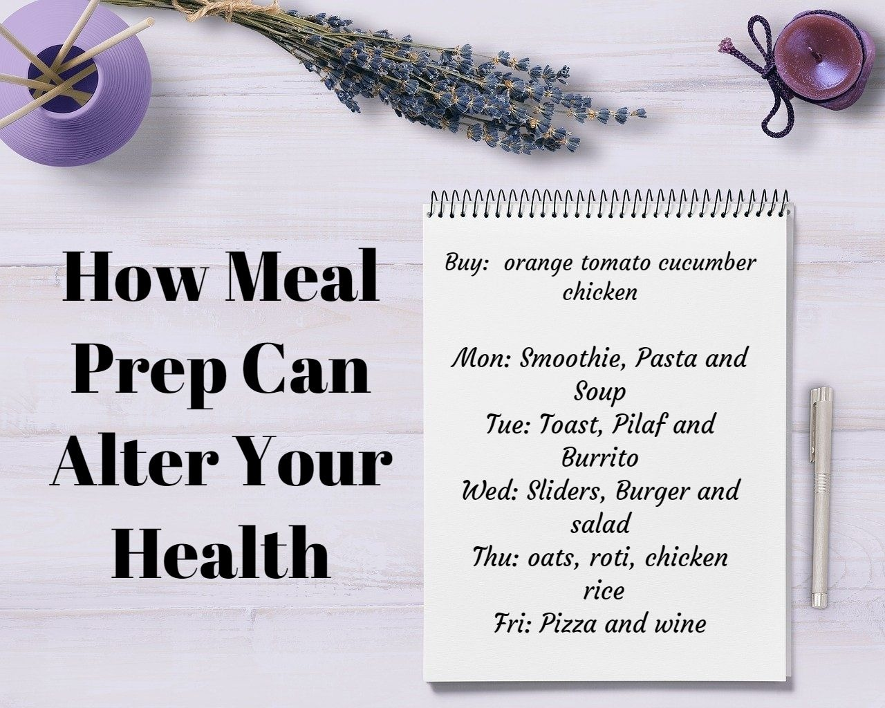 How meal Prep can alter your health