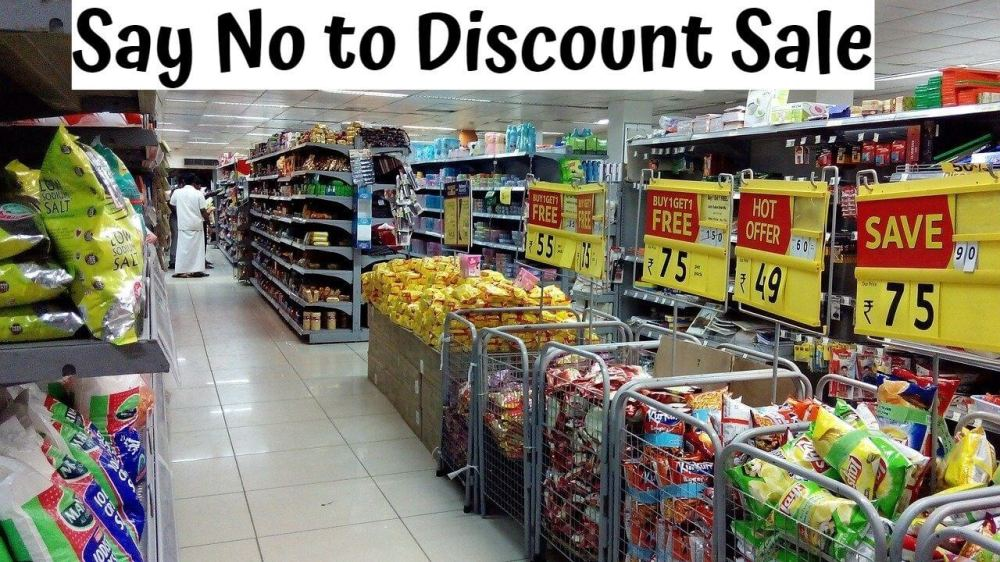 Say No to Discount Sale