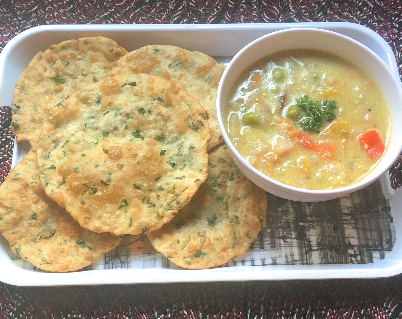 Vegetable Sagu with Parsley Crisps