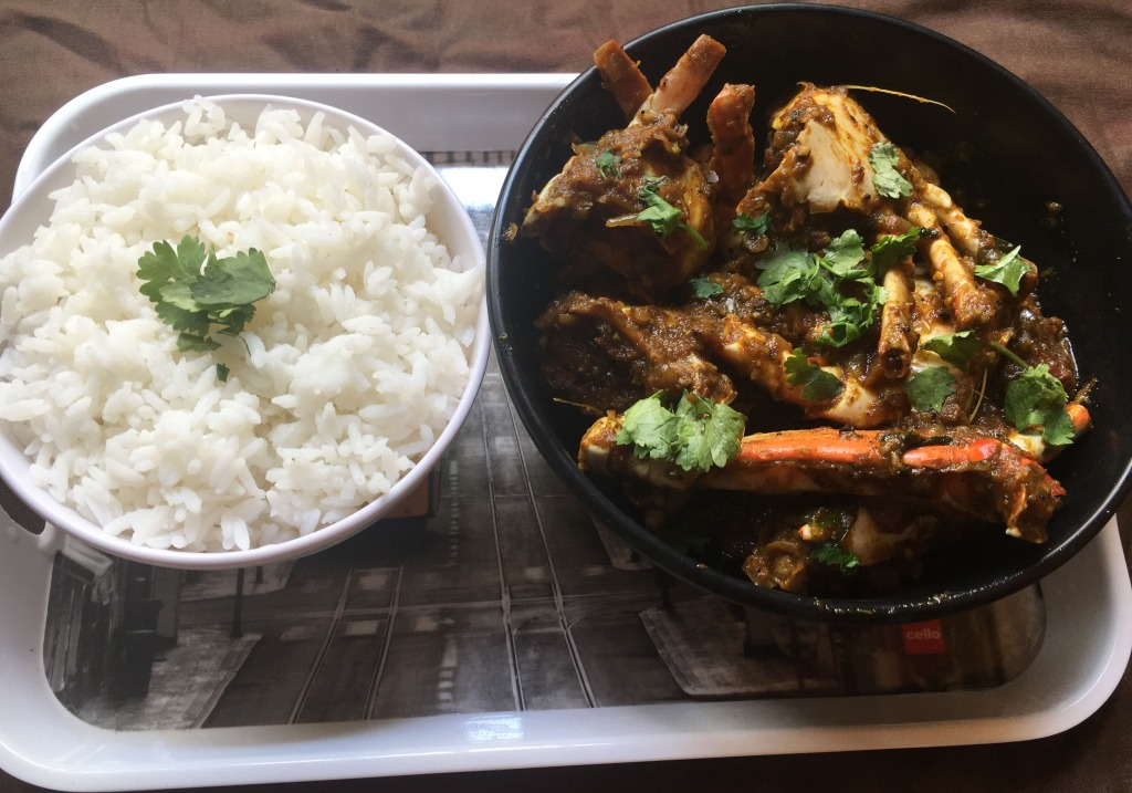 Steamed Rice with Pepper Crab